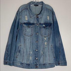 STS Factory Distressed Blue Denim Jacket